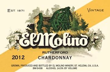2012 El Molino Chardonnay Front Label
